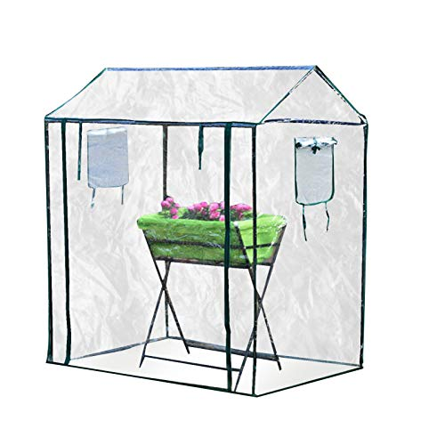 legius Walking in A Greenhouse with Shelves, Sprouts Nursery and Insulation Shed, Large Reinforced Belt with Shelves Waterproof Cover Warm Shed