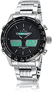 Naviforce Men's Black Dial Stainless Steel Analogue Classic Watch - NF9024-SBW