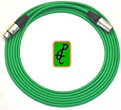 20 ft Canare Quad Microphone Cable Green Neutrik XLR Male - Female