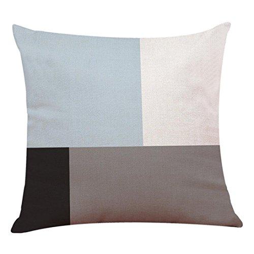 Kissenbezug 45 x 45 cm einfache geometrische Kissenbezüge Sofa Taille Bett Home Decor Pillow Cover LuckyGirls (C)