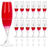 RONRONS 24 Pieces 8ml/0.27oz Creative Mini Red Wine Glass Shaped Empty Lip Gloss Tube Mini Refillable Bottles Lip Glaze Container Sample Vials