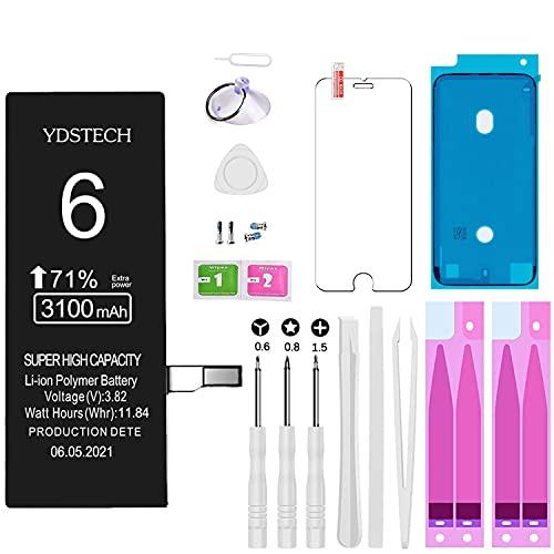 Reemplazo Nueva Batería Compatible Con Iphone 6 Super Alta Capacidad De 3100mah Reparación Con Kit Herramientas Reparación Cinta Adhesiva