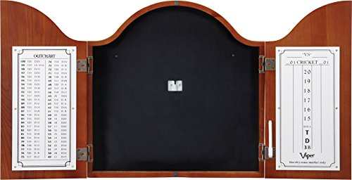 Viper Cambridge Sisal/Bristle Steel Tip Dartboard Cabinet: Cabinet Only (No Dartboard), Mahogany...