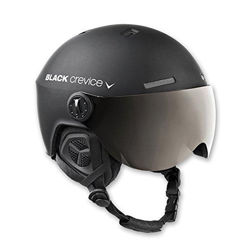Black Crevice Erwachsene Skihelm Gstaad, schwarz, 54-57 cm, BCR143921-BW-1