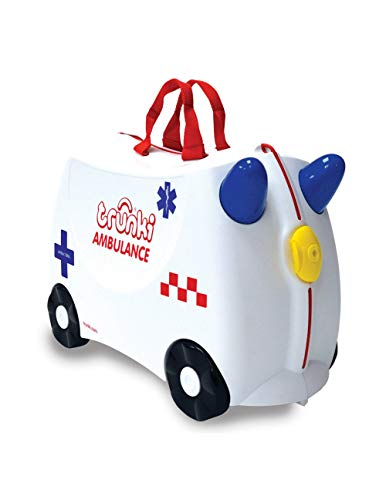Trunki Children's Ride-On Suitcase with Antibacterial Treatment: Abbie The Ambulance (White)