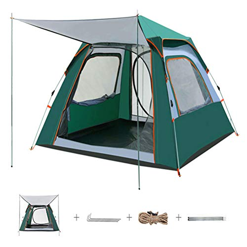 ACEWD 4 Person Room Cabin Tent Instant Setup, Family Camping Tent Large...