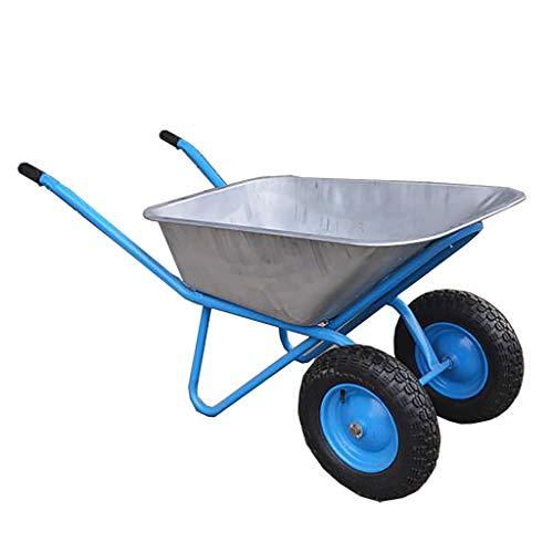 XLOO Gartenwerkzeug, großer Gartenwagen mit Luftbereifung, Allzweck-Schubkarre, Vollgummireifen, Dicke Karosserie, super tragend, Einzelrad, Doppelrad
