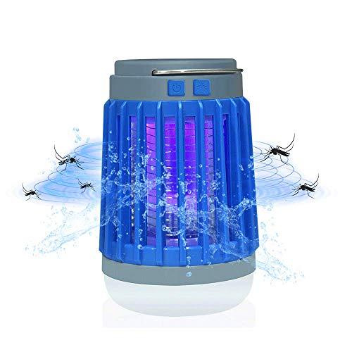 Bonlux Multifonction Lampe Solaire Anti Moustique Electrique avec LED Lumière UV, 200-500lm Etanche IP67 Portable USB Rechargeable Randonnée Lanterne pour Extérieur/Intérieur Camping Chambre