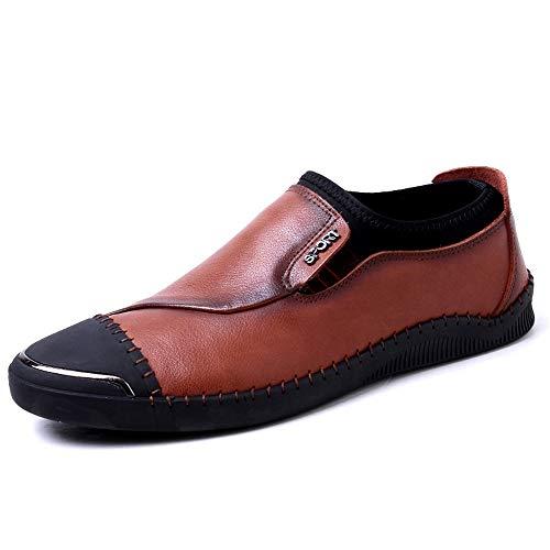 AIYASIWEI-SHOES modieuze comfortabele zachte lederen herenschoenen mode casual rijden loafer voor mannen lichte slip on Penny echt leer stiksel elastische bootschoenen