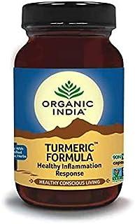 Turmeric Formula Healthy Inflammation Response 90 Veggie Caps From Organic India