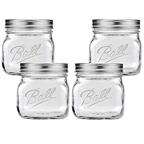 Wide Mouth Mason Jars, 16-Fluid Ounces