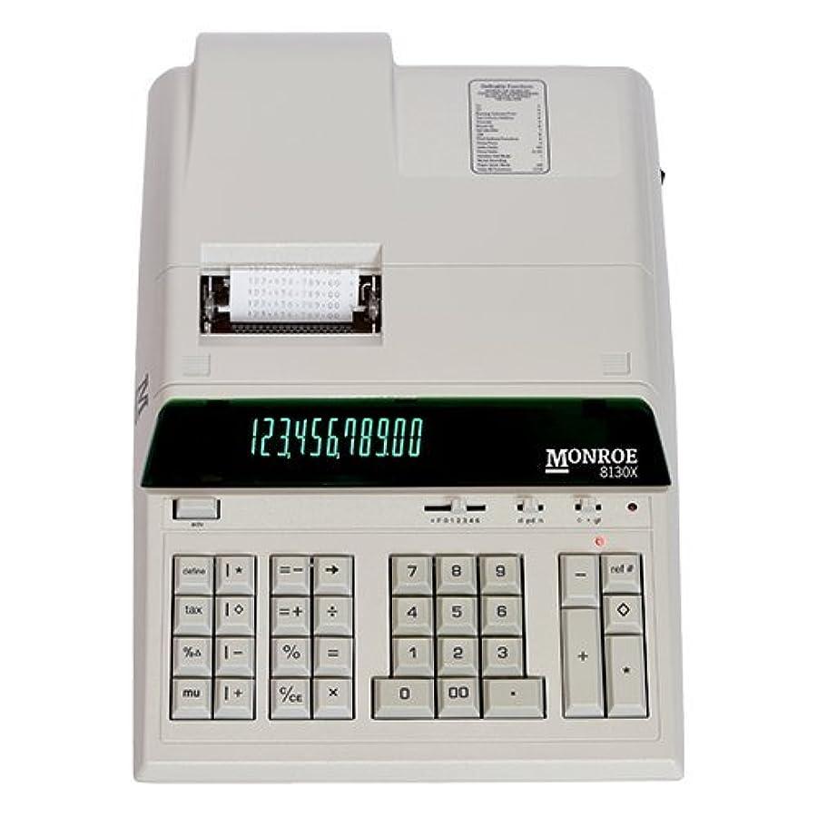 威信インディカさようならモンロー8130?Xアイボリー12桁印刷/丈夫な電卓、拡張Life表示電卓ボディからモンロー