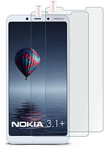 MoEx® Matte Panzerglasfolie aus 9H Echtglas passend für das Nokia 3.1 Plus   Kratzfest, Entspiegelnd + Reduziert Fingerabdrücke