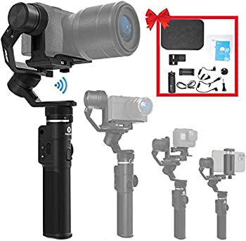 FeiyuTech G6 Max 3-Axis Camera Gimbal Stabilizer for Small Mirrorless/Pocket/Action Camera/Smartphone for Sony a6300/a6500 α7SII RX100 Gopro 9/8/7/6/5 iPhone 12 Samsung S10+ 2.65lb Payload