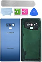 Back Glass Replacement for Samsung Galaxy Note 9 N960 All Carriers with Pre-Installed Camera Lens, All The Adhesive and Professional Repair Tool Kits(Blue)