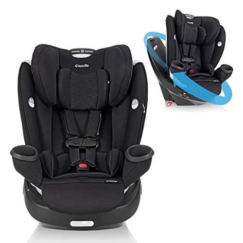 Evenflo Gold Revolve360 Rotational All-in-1 Convertible Car Seat Swivel Car Seat Rotating Car Seat for All Ages Swivel Baby Car Seat Mode Changing 4120Lb Car Seat and Booster Car Seat, Onyx