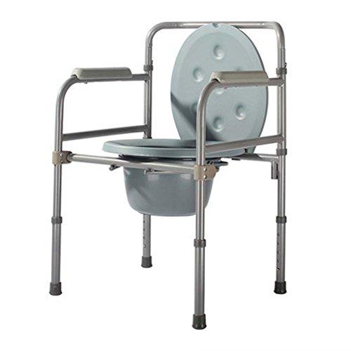 Guo Shop- Vieille chaise Commode en acier au carbone femmes enceintes handicapées hauteur réglable 53 * 49 * (79-90) cm Salle de bain Tabourets