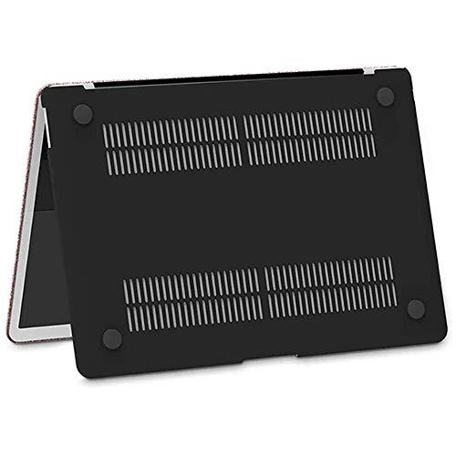 Belk Hülle Kompatibel mit MacBook Air 13 Zoll 2020 2019 2018 mit Retina Display & Touch ID Modell A2337 M1 A2179 A1932, Ultradünne Glatt Hartschale Case Cover mit Tastaturschutz, Glänzende Roségold