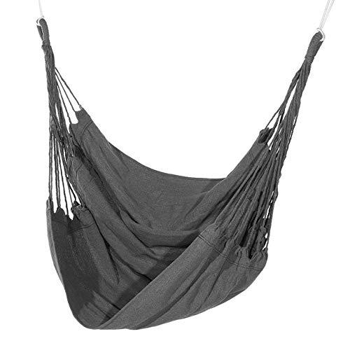 HXIANG 210kg Hangstoel Buiten Binnen Slaapzaal Slaapkamer Yard Voor Kind Volwassen Swinging Hangende Enkele Veiligheid Stoel Hangmat Geen kussen en stok