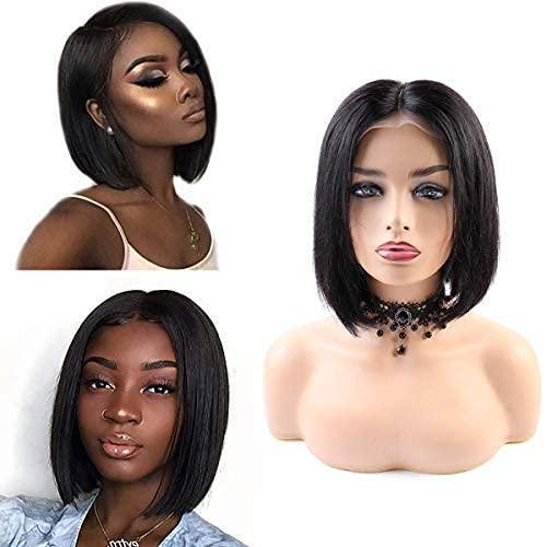 BLISSHAIR 360 Full Lace Wig bonnet pour perruques Bresilienne Cheveux 130% Bob Wig Naturel (10 pouces)