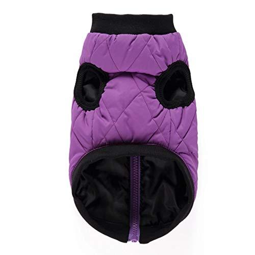 N/A Hundekleidung Reißverschluss Jacke Winter Hundemantel Baumwolle Hundekleidung Für Kleine Hundeleine Schnalle Hund Weste Freizeitjacke Welpen Outfit Chihuahua Halloween