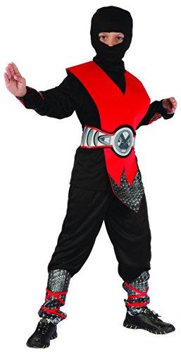 Générique Déguisement Ninja Rouge Garçon 4 - 6 Ans (S)