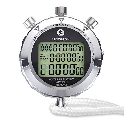 LAOPAO Melt cronometro, Display Digitale 1/100 Secondi Precision Outdoor Metallo elettronico Digitale cronografo Timer per Basket Calcio Baseball Sport Outdoor