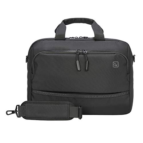 Tucano Planet - PC laptop bag 15.6' compatible with MacBook Pro 16', double compartment, padded shoulder strap, luggage attachment, Business Office University Travel