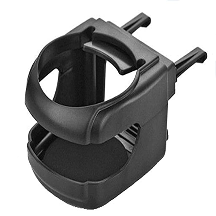 Aumo-mate Black Air Conditioner Vent Mount Cup Holder Water Coffee Cup Bottle Can Stand Holder Clip-on Car Truck A/c Mount
