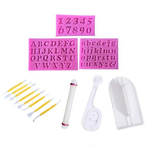Juego 14 herramientas decoración fondant Simuer 3