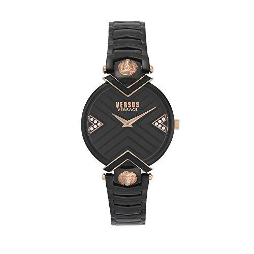 Versus Versace vrouwen kwarts horloge zwarte wijzerplaat Mabillon VSPLH1619