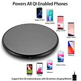 Wireless Charger,Qi Certified Ultra-Slim Wireless Charging Pad with Black Magic Gloss Base,Qi W…