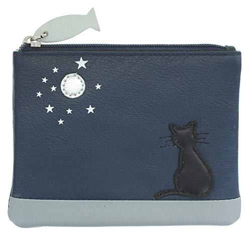 Mala Leather Midnight Collection 4207_35 - Portamonete in pelle con blocco RFID, Marina Militare (Blu) - 4207_35