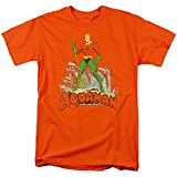 DC Comics Aquaman T Shirt (Medium) Orange