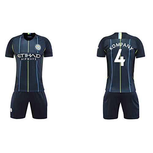 Manchester City Trikot 2018/19 Saison 17 De Blaunet Fußball Bekleidung Anzug Männer Erwachsene Kinder Team Uniform (alle Code -2XL) Gr. XXL, Königsblau