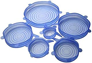 Silicone Stretch Cover Food Preservation Cover 6 sets - Blue