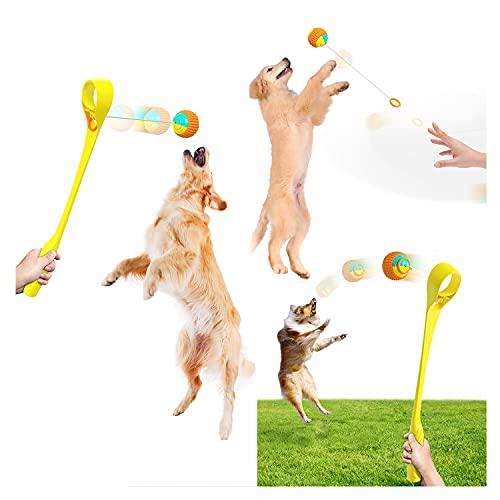 Lanzador de bolas para perros, juguetes para masticar perros, juguete interactivo para...