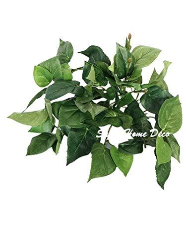 Sweet Home Deco Artificial Leaf Bush Small Size Bush DIY Craft Greenery Set of 3 (Lemon Leaf Bush)