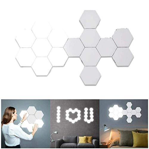 SZH ZPTENT LED-Nachtlichter Honeycomb Quantum Lampe Modular-Touch Light Touch Sensitive Beleuchtung Magnetische DIY Innendekoration mit Adapter,20 Slices
