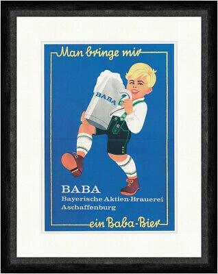 Kunstdruck Man bringe Mir EIN Baba Bier Aschaffenburg Bayern 1910 Faks_Plakatwelt 164