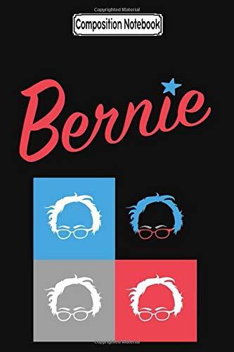 Composition Notebook: Retro Bernie Hair Pop Art Pattern 2020 Bernie Sanders President Notebook Journal Notebook Blank Lined Ruled 6x9 100 Pages