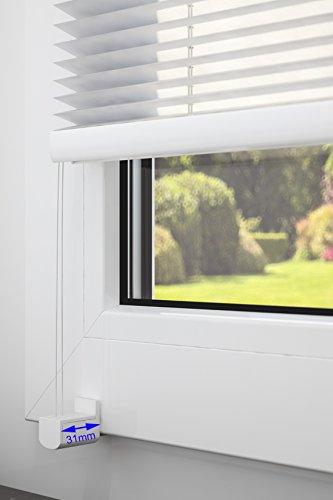 DecoProfi PLISSEE melonengelb, verspannt, Breite 110cm x 130cm (max. Gesamthöhe Fensterflügel), mit Klemmträger / Klemmfix / ohne Bohren - 3