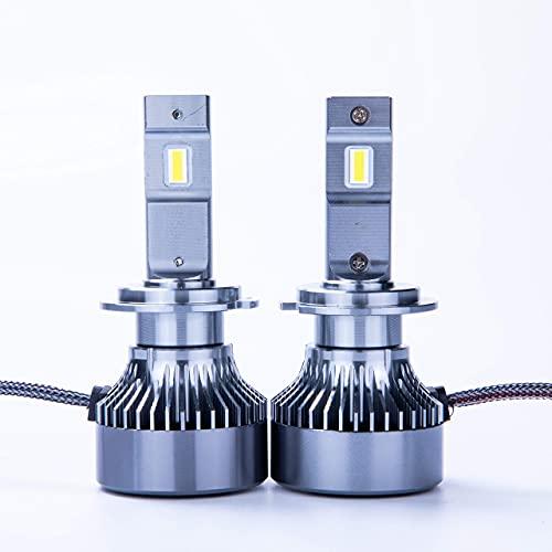 J&J LED O2 Lampadine per Auto Moto Camion H7 H1 H11 H4 20000 LM Lumen 80W LED Fari 6500K Bianco, 12V (H7)