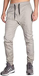 ITALY MORN Jogger Pantalones Sweatpants para Hombre Gris Chandal L Gris Claro