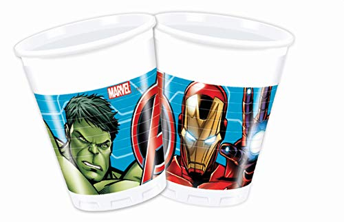 Procos- Vaso plástico 200 ml Avengers Mighty, multicolor, 5PR87964