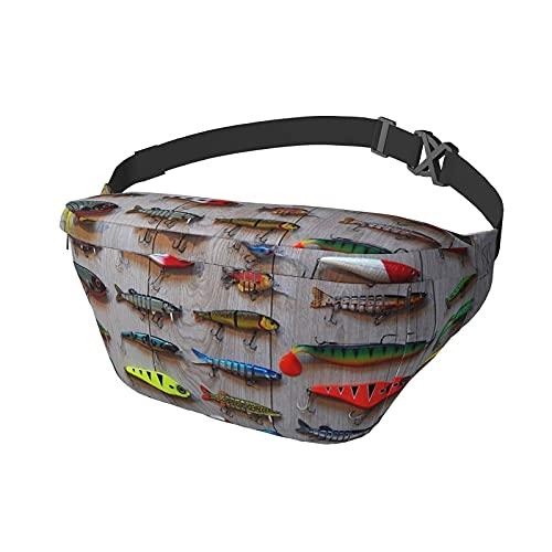 Riñonera El Mejor Cebo para Pescar Sling Bag Riñonera Crossbody Mochila de Hombro Casual Bolsas de Pecho Mochila de Cintura