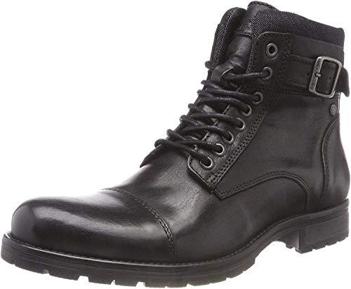 JACK & JONES Herren JFWALBANY Leather STS Chukka Boots, Schwarz (Anthracite), 44 EU