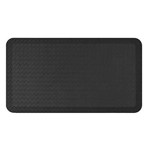 Standing Comfort Anti Fatigue Mat: Foam Ergonomic Standing Floor Mat - Non Slip Cushioned Kitchen Mat - Anti Fatigue Standing Desk Pad - Durable & Stain Resistant Top (Basic Black, 20' x 39')