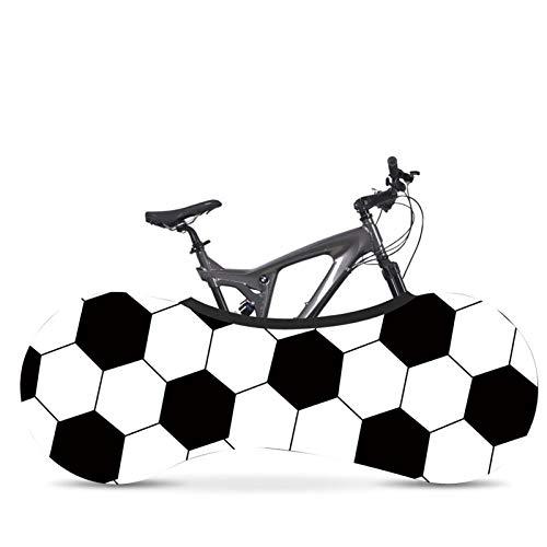 AGQH Funda para Guardar la Bicicleta, Patrón de impresión de fútbol, Interior Funda Universal para Ruedas de Bicicleta Mantiene limpios los Suelos y Las Paredes de su casa