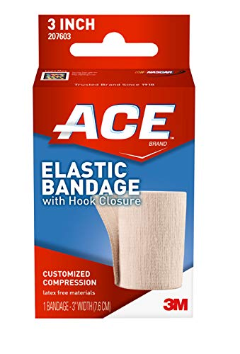 ACE - 4347584506 3' Elastic Bandage with Hook Closure, Beige, 2 pack
